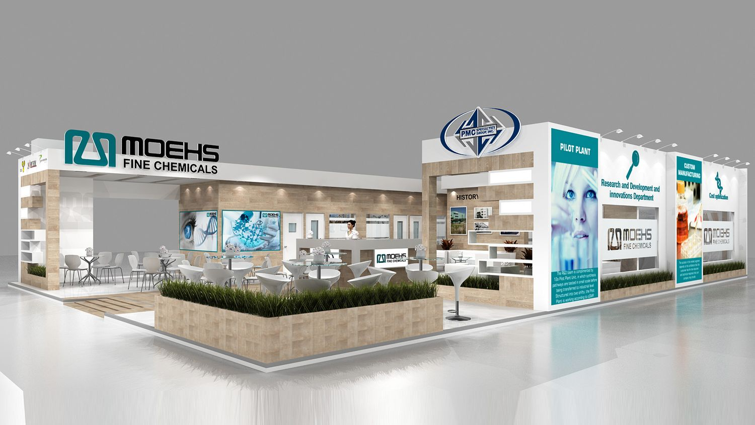 3d stall design, Exhibition services, Custom exhibition stands, Trade show stands, Portable displays