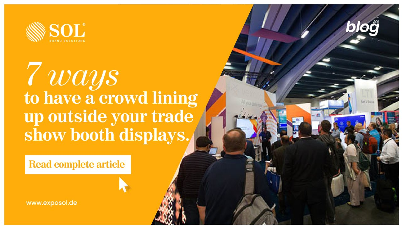 How can you increase foot traffic to your trade booth displays?